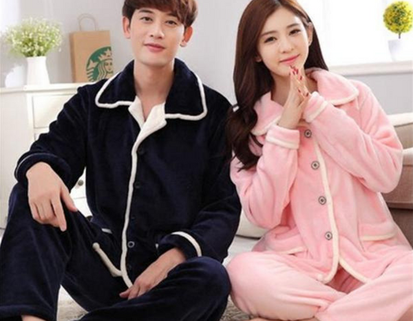 100% Coral Fleece Couples Pajamas