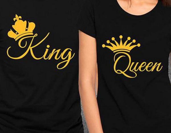 King Queen Crown Couple Shirt