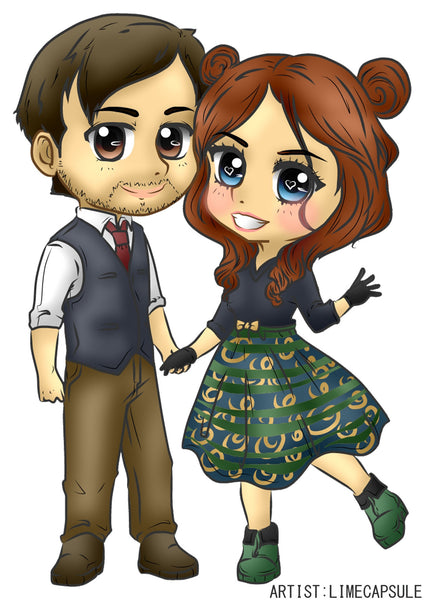 Couple Photo Art - We Will Draw Your Photo as a CHIBI ART - Basic Color Only - CoupleStuffs.com - Couple's Super Shop for Stuffs!