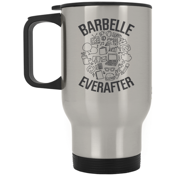 BarBelle EverAfter™ Silver Stainless Travel Mug