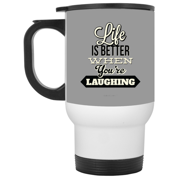 BarBelle EverAfter™ White Travel Mug