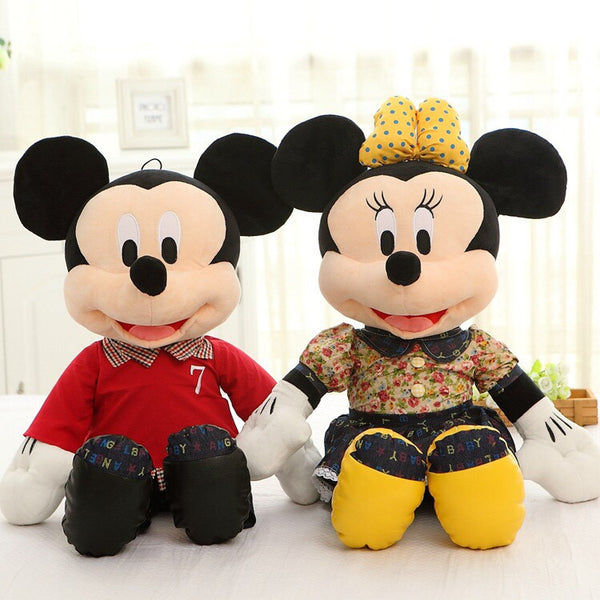 Couple Stuff Toys 60cm 1 Pair Big Couple Lovely Mickey And Minnie plush Animal Toys