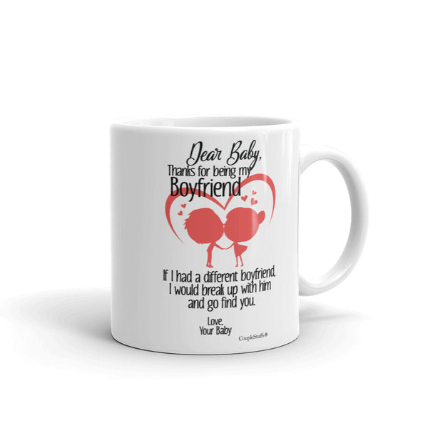 """Couple Mugs Coffee Mug Gift for your Dear Boyfriend"""