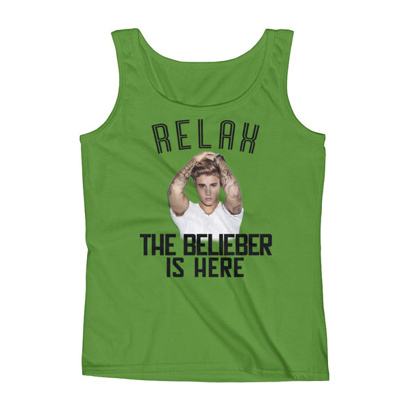 """RELAX, THE BELIEBER IS HERE"" Justin Bieber Fan Ladies'  Sleeveless Tank Top"