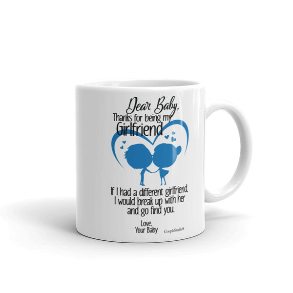 """Couple Mugs Coffee Mug Gift for your Dear Girlfriend"""