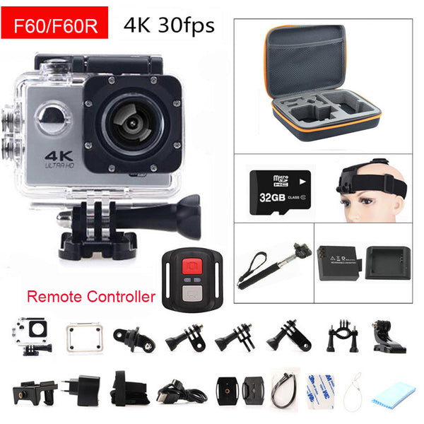 Couple Action Camera 4K  Remote Controller Mini Diving Sport Waterproof  Camera