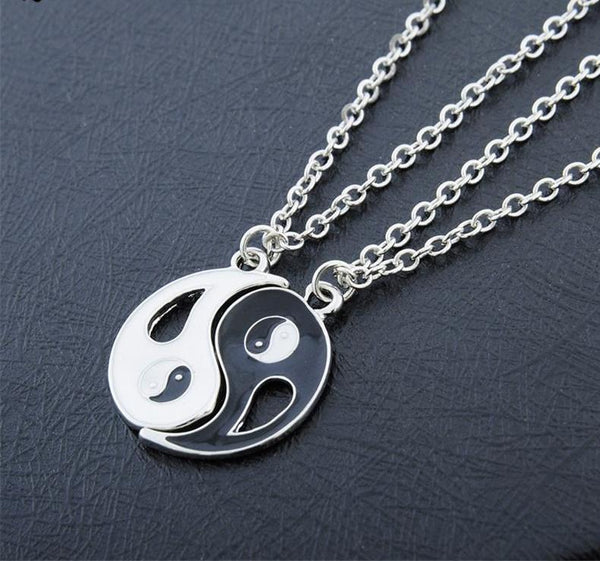 Double Yin Yang Couple Necklaces