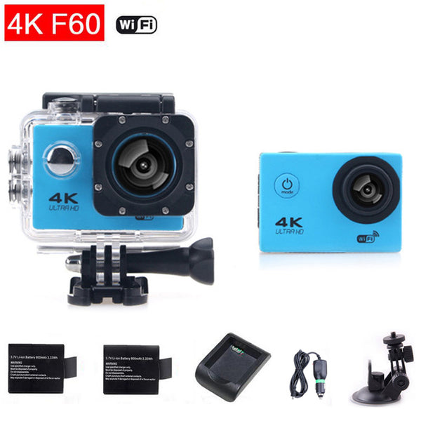Couple Gadgets Action Camera WiFi Ultra HD 2.0 LCD Helmet Sport Diving Cam