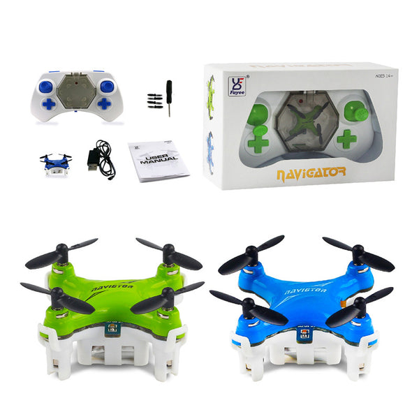 Couple Gadgets Quadcopter Mini 2.4G 4CH Pocket Drone 3D with Remote Control