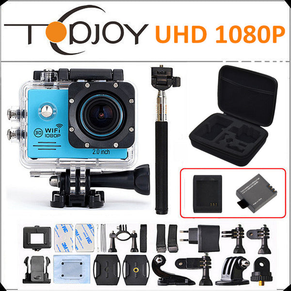 Couple Gadgets Action Mini Camera 1080p HD + DV Bag/Monopod/Battery+Charger Waterproof
