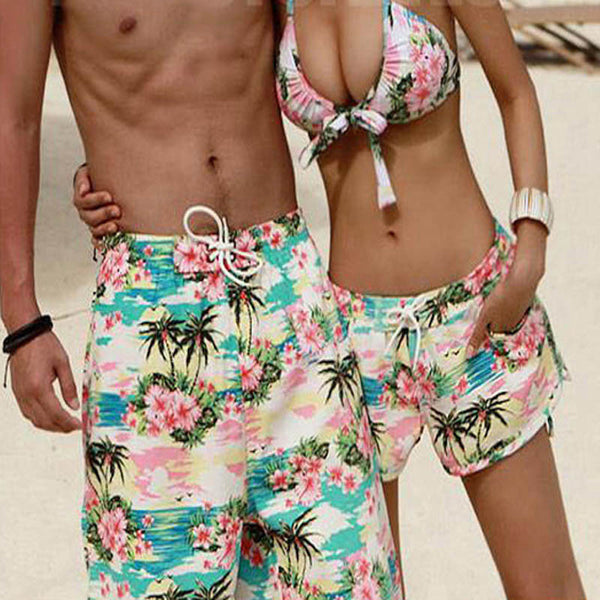 Flower Bloom Couple Swimwear