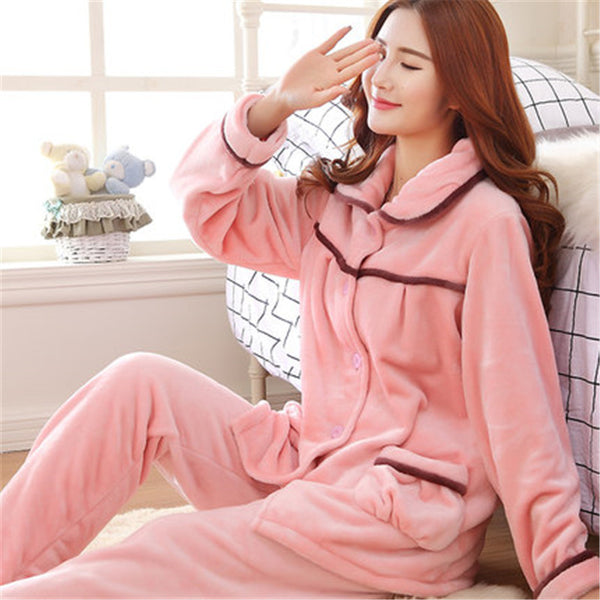 Pink Winter Couple Pajamas for Women