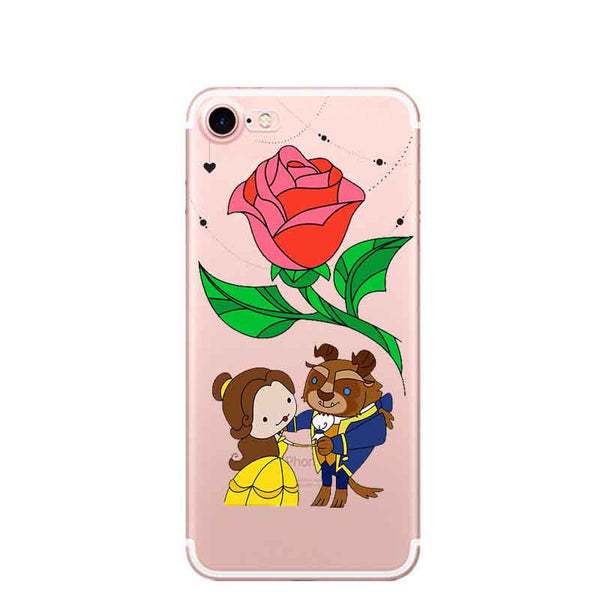 Beauty and the Beast Soft Silicone Couple Phone Case