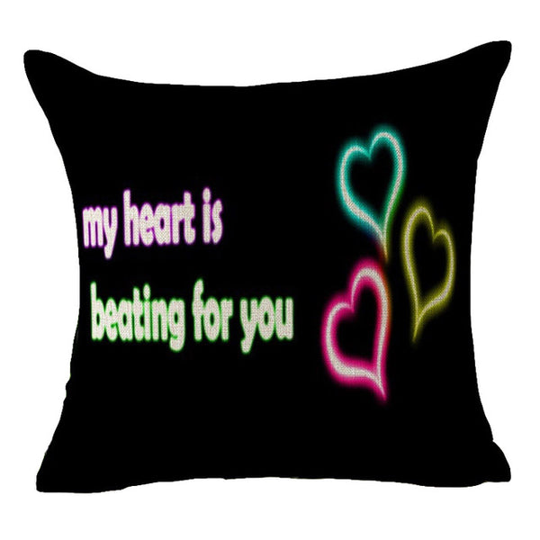 Love Heart Couple Pillow Case