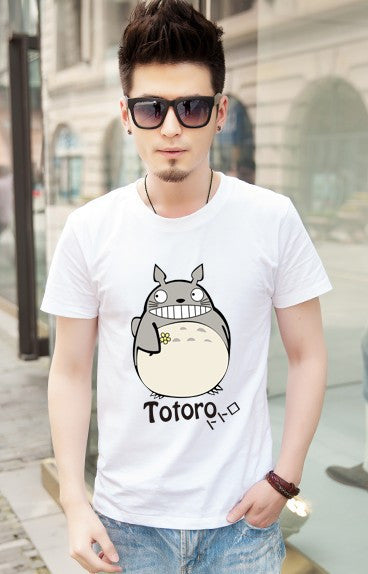 Totoro T shirt For Lovers Couple T shirt Clothing Cartoon Clothes For Men And Women T Shirt women tops for Free Shipping Brazil