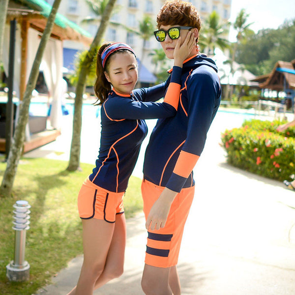 Swimming Suit For Women Rash Guard Rushguard Swim Wear 2017 New Long Sleeve Couple Three Piece  sc 1 st  CoupleStuffs.com : swimming costumes for adults  - Germanpascual.Com