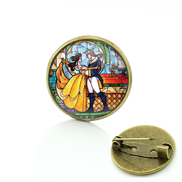 Beauty and the Beast Collection Vintage Fairytale Jewelry Brooch Marilyn Monroe Pins
