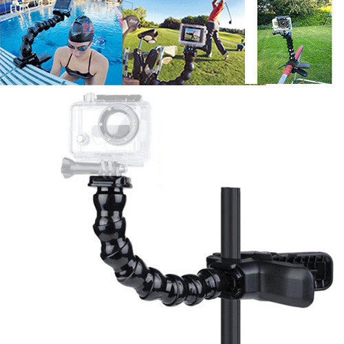 Couple Gadgets Camera Accessory Jaws Flex Clamp Adjustable Neck for GoPro Hero1-3/3+/4 sj4000-6000