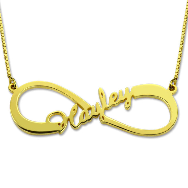 Infinity Name Necklace Single Name Necklace Gold Color  Infinity  Necklace with Any Name wedding Gift Mother's Day Gift