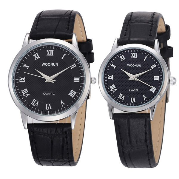 Enrique Leather Couple Watch Set