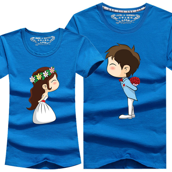 Couple Shirt Lovers clothes casual short sleeve Cotton tee - CoupleStuffs.com - Couple's Super Shop for Stuffs!