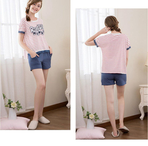 Roadside Thin Stripes Couple Pajamas