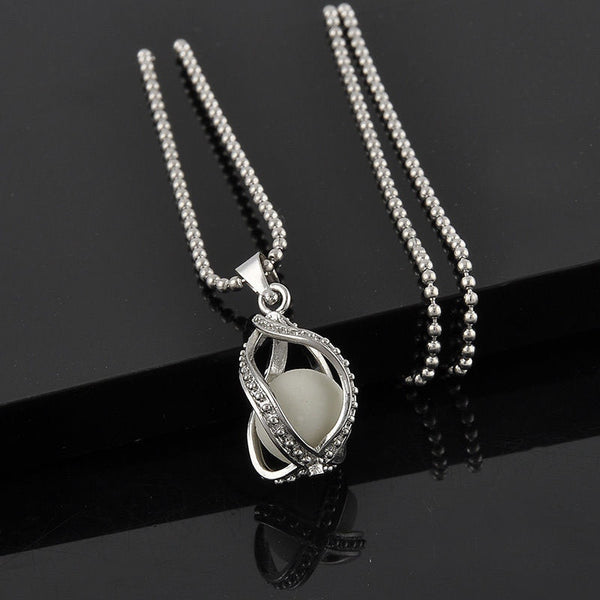 Glow In Dark Teardrop Couple Necklace