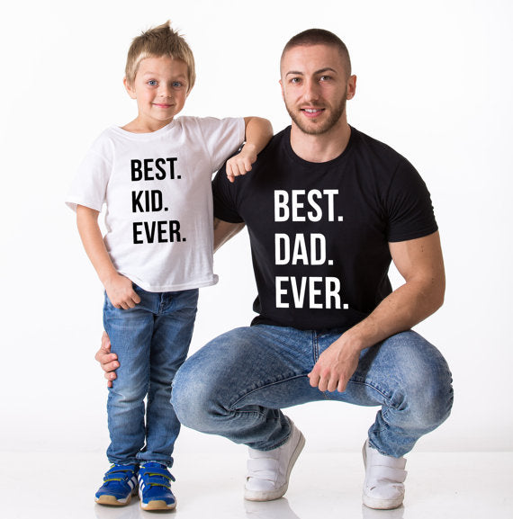 Best Mom Dad Kid Ever Family Matching Shirts