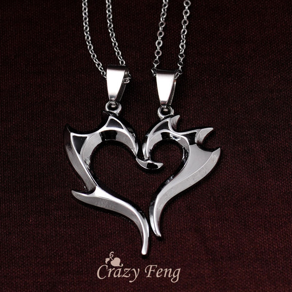 Dragon Heart Couple Necklace