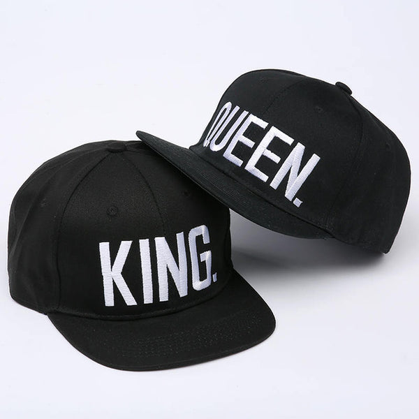 KING QUEEN Embroidery Couple Caps