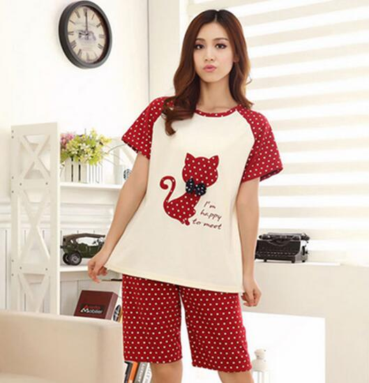 Cat & Fish Bone Couple Pajamas
