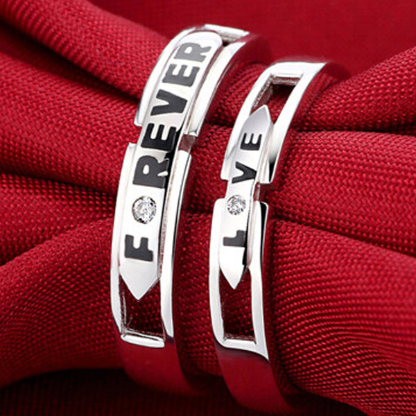 Forever Love Slim Type Couples Rings Set