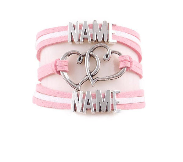 Handmade Personalised Name Bracelet Customised Text Bracelets & Bangles