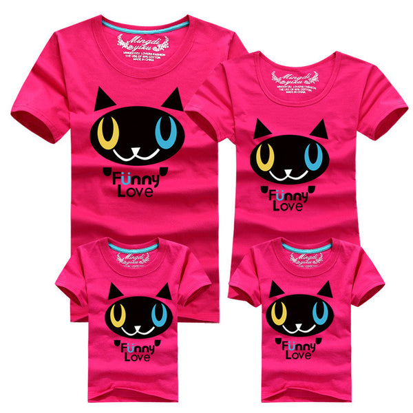 Family Matching Clothes 2016 Quality Couple T Shirt Female Male 4xl Summer Short Sleeves Dad Mom T-Shirts Family Cartoon Outfits - CoupleStuffs.com - Couple's Super Shop for Stuffs!