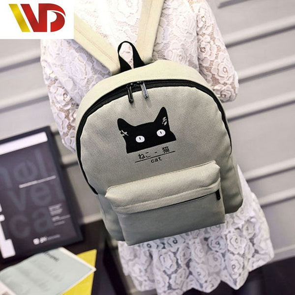 Couple Bags New Cartoon Cat Backpack - CoupleStuffs.com - Couple's Super Shop for Stuffs!