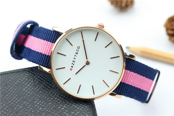 Multi Color Band Couple Watch