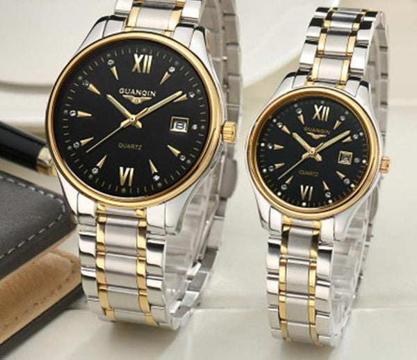 High Quality Roman Waterproof Couple Watch