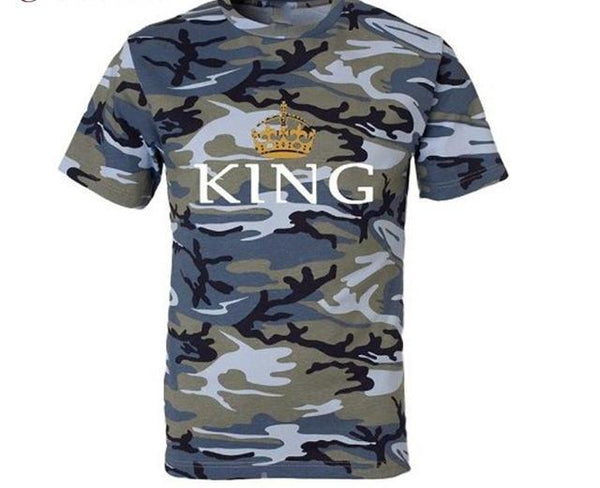 King Queen Army Couple Clothes Tee Shirt