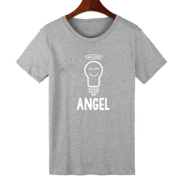 Devil and Angel Couple Shirts