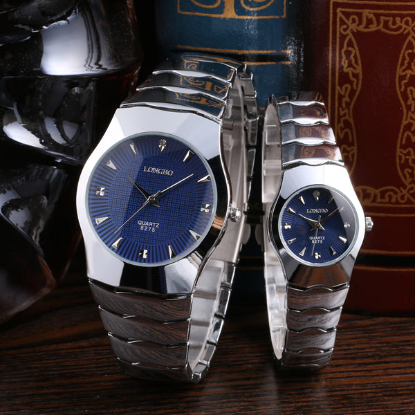 Premium Silver Dial Couple Watch