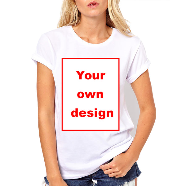 Customised Women T-shirt Print Your Own Photo or Design