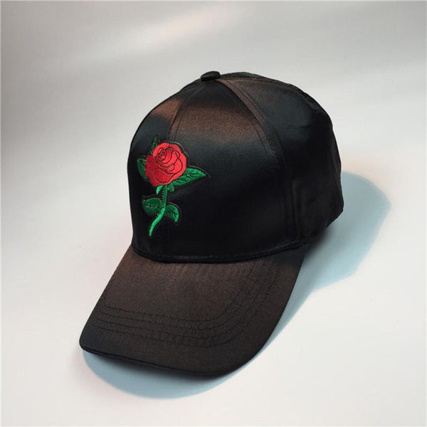 Rose Embroidery Baseball Couple Caps