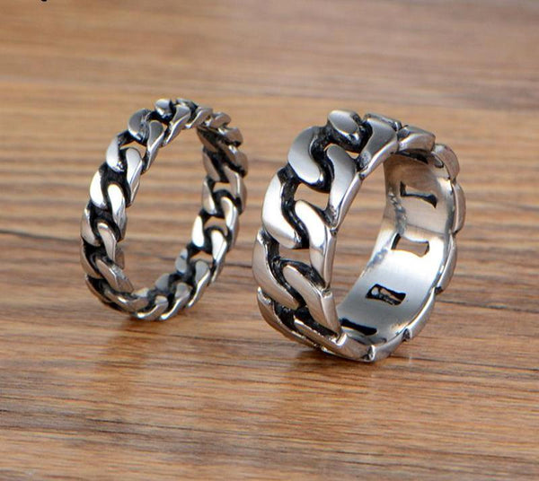 Braided Stainless Steel Couple Rings