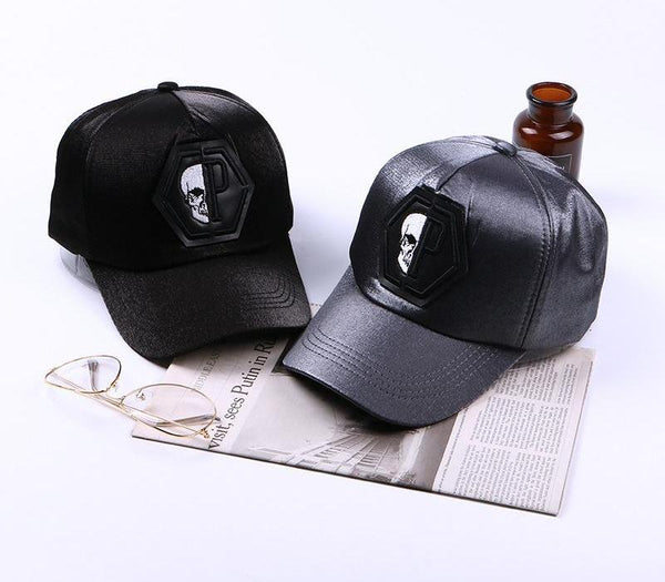 Skull Head  Baseball Couple Caps