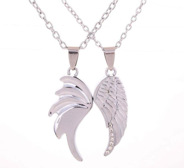Angel Wings Couple Necklace