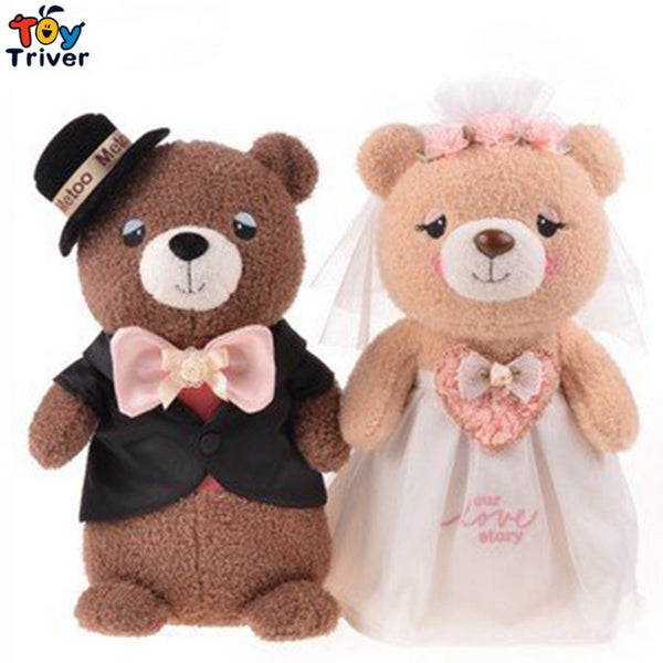 Couple Dolls Metoo Cartoon Couple Teddy Bears