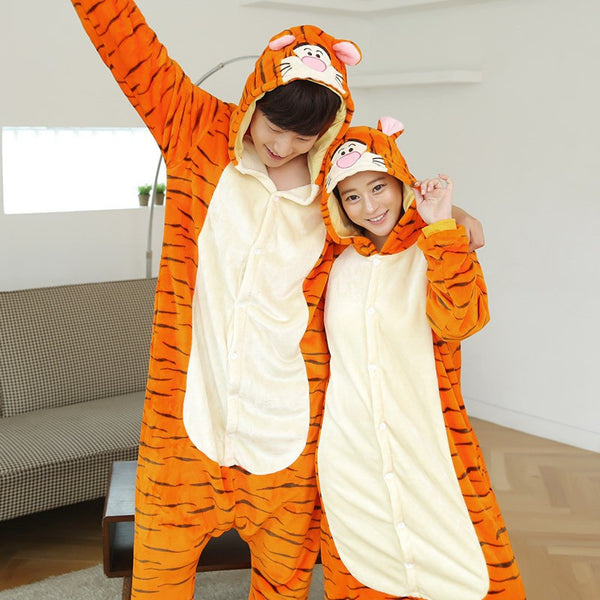Couple Shirts Autumn Spring Winter Flannel Tigger Costume - CoupleStuffs.com - Couple's Super Shop for Stuffs!