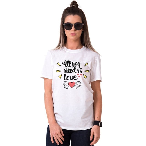 """All You Need is Love"" Couple T-Shirt"