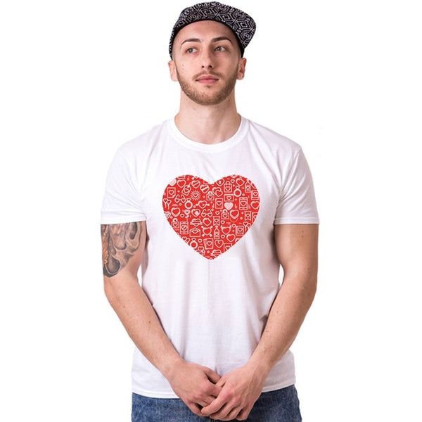 """Twin Hearts"" Couple T-Shirt"