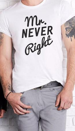 MR Never Right and MRS Always Right Couple Shirts